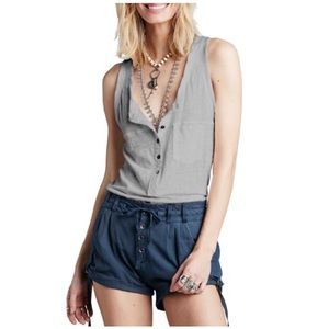 Free People Traveler Linen Tank Top Sz XS - S